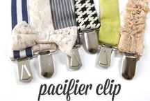 Make your own Dummy Holders / Use plastic clips and snaps to create your own dummy/pacifier holders.