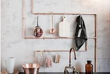 Copper and stuff / Just love having gorgeous copper motives and other metallic items in my home... Some inspiration please