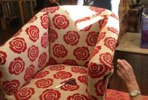 upholstery / just a few of our amazing learners work!