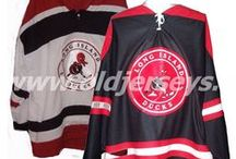 Throwback Replica Hockey Jerseys / Throwback airknit replica hockey jerseys from semi-pro to professional defunct hockey leagues from the 1920s to 1970s.