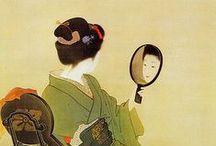 ART_SHOEN UEMURA / 上村 松園(うえむら しょうえん、1875年(明治8年)4月23日 - 1949年(昭和24年)8月 27日)は、日本画家。本名は上村 津禰(うえむら つね、「禰」は「示」ヘンに「爾」)