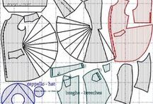 Made to measure historical patterns / The arteinscena historical patterns collection, click on each image to ask a custom order (specifying the model title written on each sketch)