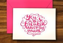 Note Card & Thank You Card Printables / lovely, fun, creative and free note cards, thank you cards and stationary
