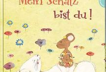 Mein Schatz bist du! / A picture book written by Lucy Scharenberg and illustrated by me. The book was published by Thienemann in 2013. It's about the two characters on the cover - a rabbit and a mouse. The rabbit looks for a treasure but he can't find it. With the help of the mouse he finally finds his treasure.