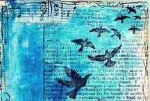 Créas, collages, art journal... / Inspiré, coloré, créatif...