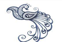 Mehendi and Kolam Ideas / Pattern ideas for henna tattoos and rangoli etc