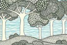 Zentangle,zendoodle, zendala, doodles / Kritzellust statt Alltagsfrust