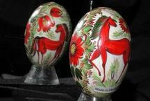 Painted Pysanky / Pysanky with Painted designs from Lviv Ukraine (2003)