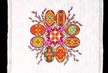 Embroidered Easter Basket Covers / Hand Embroidered Easter Basket Covers  from Western Ukraine Originally sold on AllThingsUkrainian.com