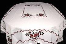 Ukrainian Tablecloths / Ukrainian handmade tablecloths - hand embroidered from western Ukraine