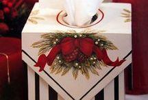 decupage Boże Narodzenie / ozdoby na Boże Narodzenie
