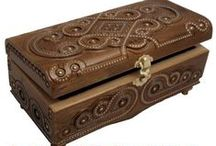 Carpathian Hand Carved Wood Boxes / Hand Carved and handmade wood boxes from the Carpathian Mountains in Western Ukraine