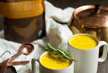 Drink Up | Bone Broth Beverages / Our favorite ways to incorporate bone broth into delicious sips!