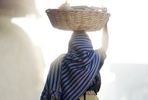 << Women + Food Markets >> / Women at food markets, farmers' markets, going to and from market and selling street food.