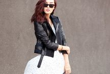 Trends: Ways to Work Your Leather Jacket / Pleather, leather, whatever. Inspiration on how to rock a leather jacket like a pro.
