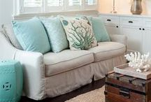 Beach House Decor / Great decorating ideas for making your home feel more like a beach house by the sea, even if you're intown.
