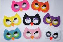 Dress up masks / Fun costume dress up masks for kids of all ages.  Great for role play, parties.