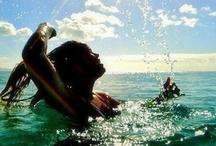 Praia, sol e mar.