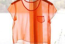 Orange - Corail - Saumon / L'énergie, les vitamines, le peps ! Et puis aussi la douceur, la fantaisie... / by Hellomariejo