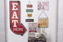 Retro home & gift / Here we have a wide selection of vintage and retro gifts, including light up signs, clocks, metal wall signs and magnets.