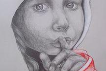 Ceruza és szén rajzaim