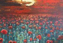 Akrillal készült festményeim