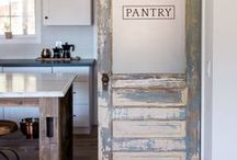Old Door Love / Repurposed old, antique, vintage, chipped doors adding charm to interiors.