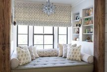 Window Seats & Nooks / The coziest corners of a home and beautiful window seats