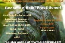 Ki Energie - Usui Reiki Ryoho Seminars / WHY TAKE REIKI SEMINARS FROM US? * our seminars are unique and fun! * small seminar size (max 6 students) * private reiki reijus / attunements * hands-on practical reiki experience * one-on-one review to answer questions * access to our online student forum * invitation to our monthly reiki circle * reiki internship programs * reiki practice sessions at discount rates * reiki volunteer opportunities * 10€ off healing energie treatments