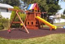 Swing Set Installation Gallery / A few swingsets that we have installed in people's yards in the Tri-State area. http://mykidsrainbow.com/