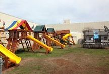 Rainbow Direct Showrooms / A look at our Rainbow Swingset and SpringFree trampoline showrooms.