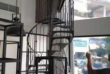 Ladders / Spiral Metal ladder