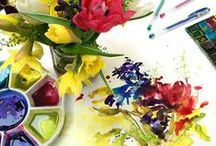 Petal To Paint / Bespoke Wedding Bouquet Paintings by Janette Phillips