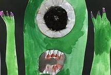 monster school / monster theme, kindergarten, preschool