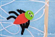 spider school / spider theme, spider crafts, hands-on fun, spider lesson plans