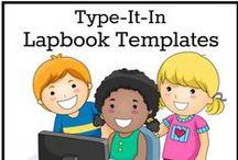 Lapbooks and Notebooks / foldables, mini books, making lapbooks and notebooks for homeschooling