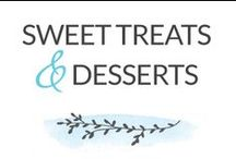 Sweet Treats & Desserts / dessert. learn to bake. chocolate. vanilla. strawberry. toffee. caramel. cinnamon. coconut. lemon. pecan. banana. mint. cupcakes. cookies. sauces. cake. sugar. icing. pancakes. brownies. fudge. sweet. decadent. guests. entertaining. family. kids snacks. baking.  / by Dabbles & Babbles