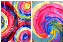 Process Art for Preschool / Process art: experiment with paint, paper, brushes, and enjoying the process of creating art; not worrying about a final product