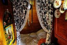 Narrowboat interior inspo / Living onboard, limited space, portholes for windows, all require creative thinking!