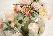 Elegant Wedding Styling and Table Centerpieces / Classically elegant and romantic wedding table centerpieces and decor created by Event Avenue