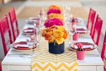 Bright Wedding colours, ideas and inspiration