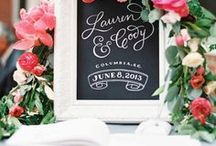 Signage ideas for Weddings and Events / Ideas and inspiration for wedding and event signs