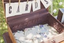 Wedding guest book and gift table ideas / Ideas and inspiration for displaying your wedding gift table and guest book options