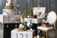 Cake and Dessert bar display ideas / Ideas on ways to display cakes, dessert bars and candy buffets for weddings and events