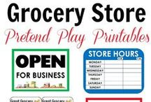 Grocery Store Theme for Preschool / Use the grocery market, fruits, vegetables, coupons, money, and more to inspire lots of grocery store themed learning complete with grocery store dramatic play!
