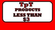 TpT Products LESS THAN $3.00 / This is a collaborative board for TpT products that are LESS THAN $3.00 (highest priced item on board should not exceed $2.99!!)  Please limit your pins to 2 pins per day.  No advertising of sales on this board. PLEASE REMOVE DUPLICATE PINS before repinning the same pin! Pins that do not follow above rules will be removed!  Repeat offenders will be removed as well.