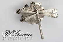 Whimsy / whimsical hardware by P.E. Guerin - flowers, plants, animals, nature