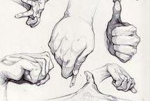 Отрисовка конечностей / Рисование рук, ног человека.