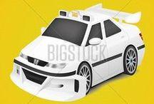 Taxi vector illustration   Такси векторная иллюстрация / Векторные иллюстрации на тему Такси #Taxi #Vector #illustration