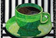 quilts: coffee, tea...& receipes / Kaffee, Tee, Allerlei aus Stoff zum Thema & sonstige Kuriositäten